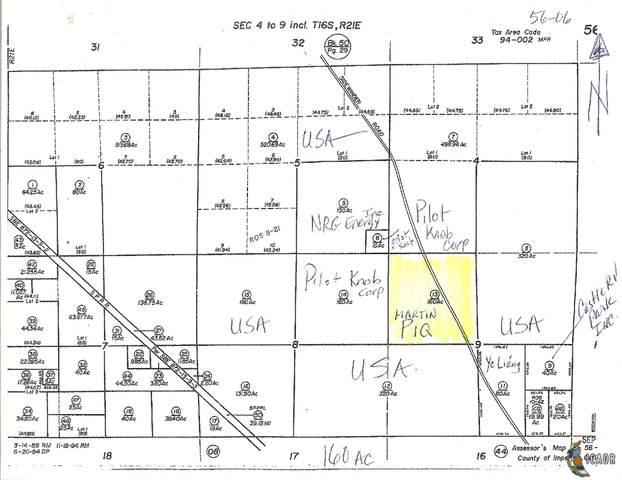 0 160 Acres M/L, Winterhaven, CA 92283 (MLS #21681000IC) :: Duflock & Associates Real Estate Inc.