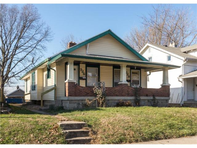 726-728 N Bradley Avenue, Indianapolis, IN 46201 (MLS #21529826) :: RE/MAX Ability Plus