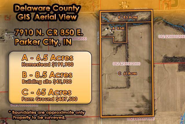 7910 N County Road 850 E, Parker City, IN 47368 (MLS #21660999) :: David Brenton's Team