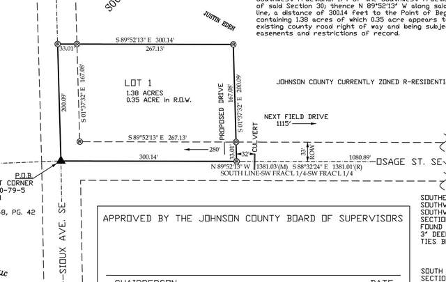 13 Acres Osage Ave. And Sioux Ave., Iowa City, IA 52240 (MLS #202101835) :: Lepic Elite Home Team