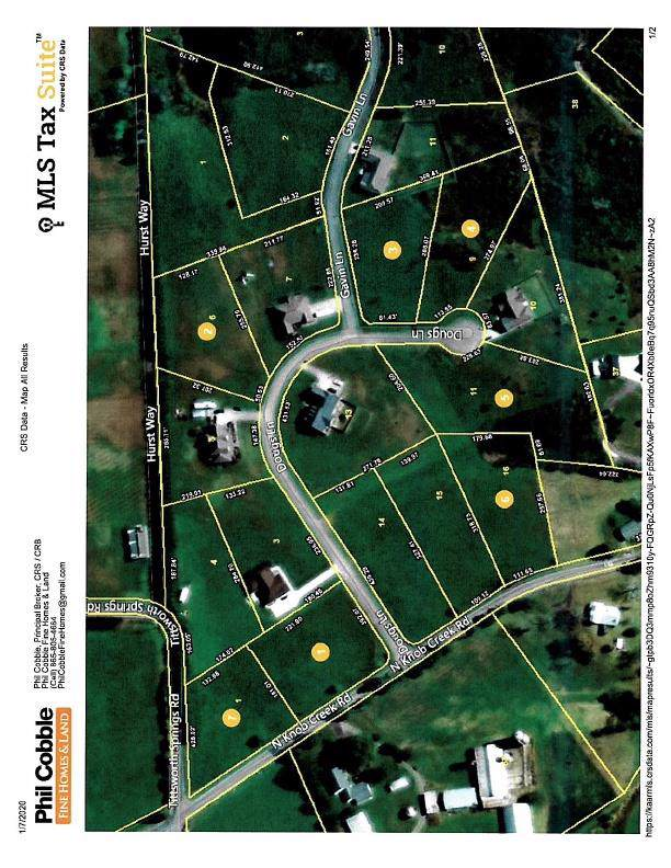7 Lots Dougs Lane & N. Knob Creek Rd., Seymour, TN 37865 (#1104349) :: Venture Real Estate Services, Inc.