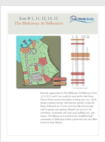 Lot 1 The Hideaway At Stillwaters, Dadeville, AL 36853 (MLS #19-915) :: Ludlum Real Estate