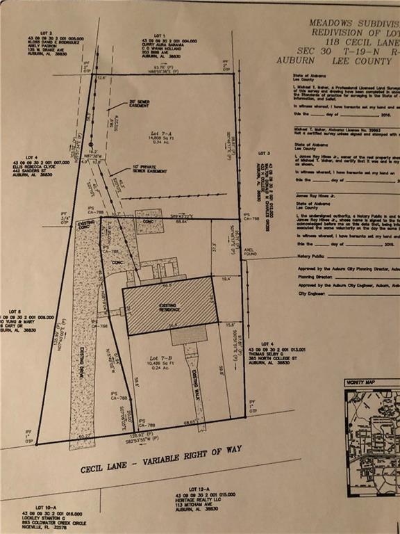 118 B Cecil Lane, AUBURN, AL 36830 (MLS #140284) :: Crawford/Willis Group