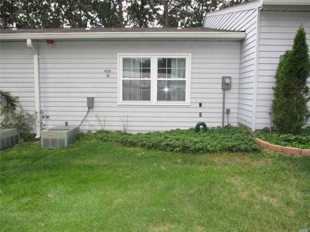 424B Woodbridge Dr 55+, Ridge, NY 11961 (MLS #3163835) :: Netter Real Estate