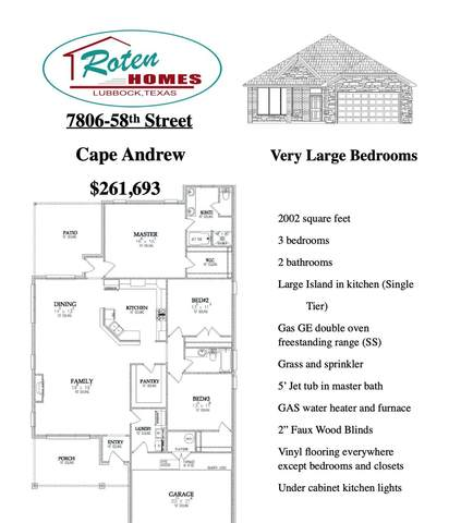 7806 58th Street, Lubbock, TX 79407 (MLS #202009268) :: Stacey Rogers Real Estate Group at Keller Williams Realty