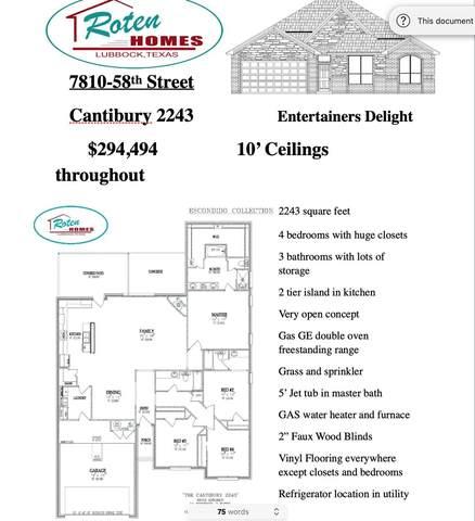 7810 58th Street, Lubbock, TX 79407 (MLS #202009899) :: The Lindsey Bartley Team
