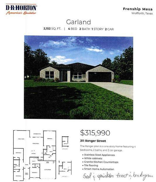 311 Ranger, Wolfforth, TX  (MLS #202109789) :: Better Homes and Gardens Real Estate Blu Realty