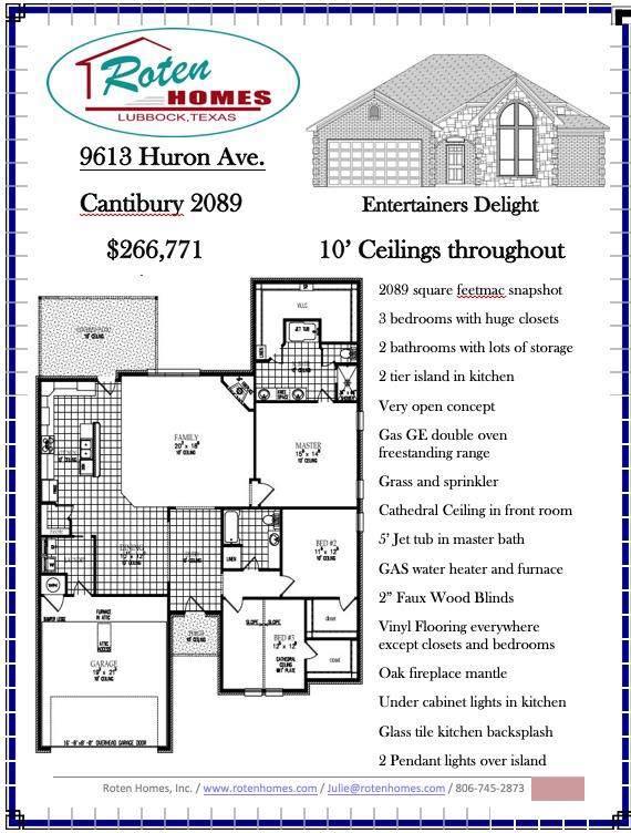 9613 Huron, Lubbock, TX 79424 (MLS #201909218) :: McDougal Realtors