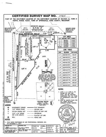 Lot 2 County Road J, Springdale, WI 53593 (#1872497) :: Nicole Charles & Associates, Inc.