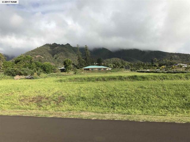 10 Huihui Pl Lot 2, Wailuku, HI 96793 (MLS #374365) :: Elite Pacific Properties LLC