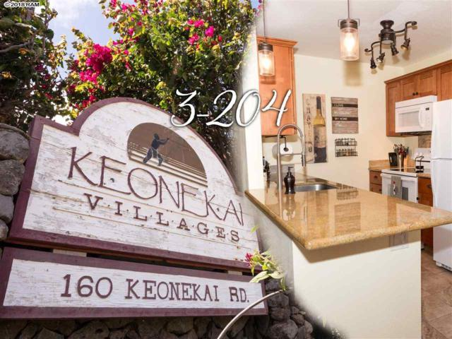 160 Keonekai Rd 3-204, Kihei, HI 96753 (MLS #377466) :: Elite Pacific Properties LLC