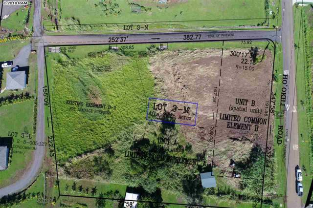 1251 Hookili Rd Lot 3M, Unit A, Haiku, HI 96753 (MLS #378050) :: Elite Pacific Properties LLC
