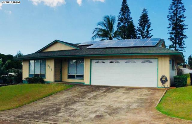 222 Keolalani St, Pukalani, HI 96768 (MLS #379431) :: Elite Pacific Properties LLC