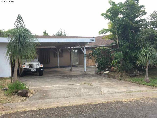 2760 Keikilani St, Pukalani, HI 96768 (MLS #376264) :: Island Sotheby's International Realty