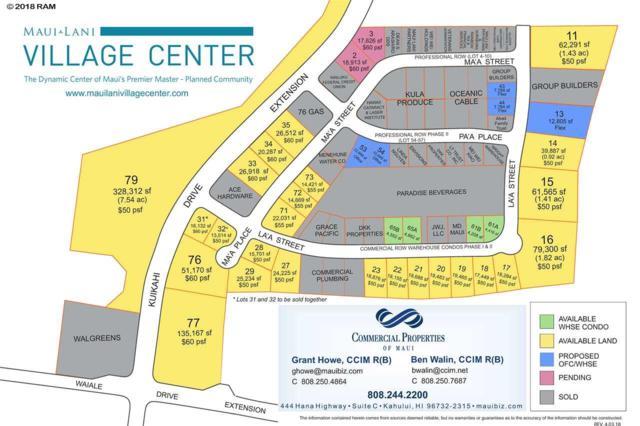 74 Laa St Lot 15, Kahului, HI 96732 (MLS #373334) :: Elite Pacific Properties LLC