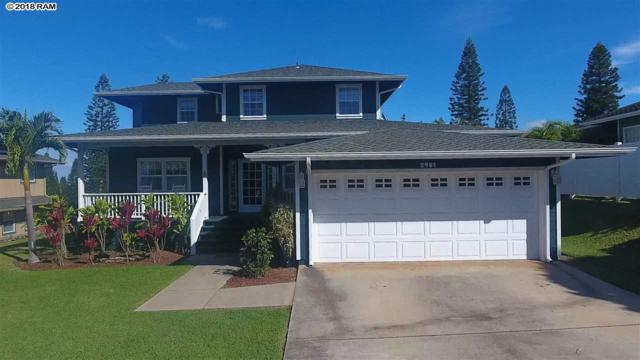 2981 Ainalani Dr, Pukalani, HI 96768 (MLS #380988) :: Maui Estates Group