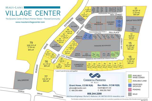 0 Waiale Rd Lot 77, Kahului, HI 96732 (MLS #373213) :: Corcoran Pacific Properties