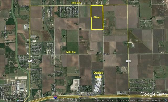 80 AC N Mile 1 1/2, Mercedes, TX 78570 (MLS #216684) :: The Deldi Ortegon Group and Keller Williams Realty RGV