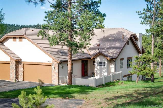 31201 Divot Drive, Evergreen, CO 80439 (#1844795) :: The Colorado Foothills Team | Berkshire Hathaway Elevated Living Real Estate