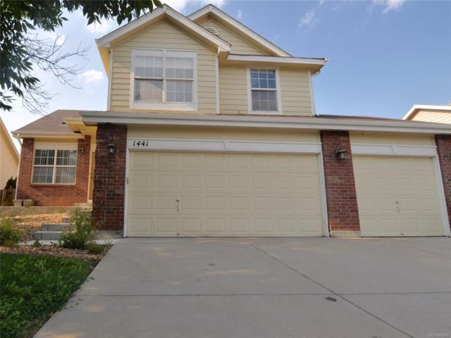 1441 E 96th Place, Thornton, CO 80229 (MLS #2823217) :: The Biller Ringenberg Group