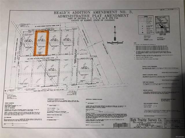 38415 Lake Street, Agate, CO 80101 (MLS #2950545) :: 8z Real Estate