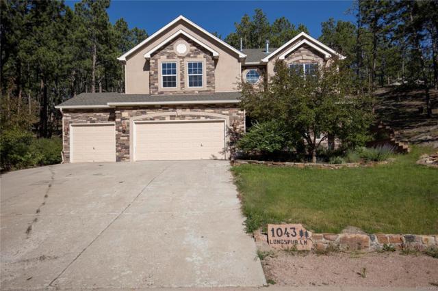 1043 Longspur Lane, Colorado Springs, CO 80921 (MLS #4077186) :: 8z Real Estate