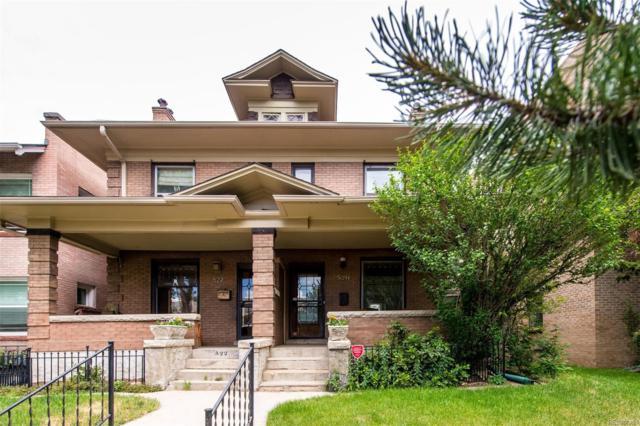 520 N Logan Street, Denver, CO 80203 (#4343687) :: The City and Mountains Group