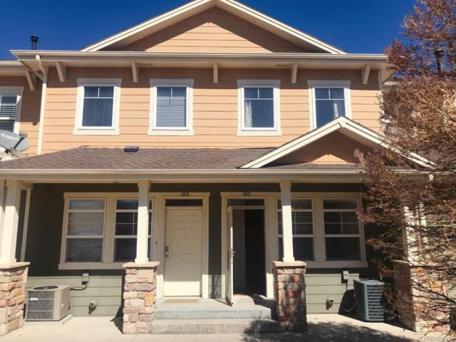 9315 Amison Circle #105, Parker, CO 80134 (#4685212) :: My Home Team