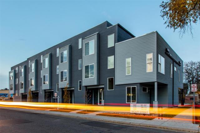 1480 Wolff Street #116, Denver, CO 80204 (#5902400) :: The Peak Properties Group