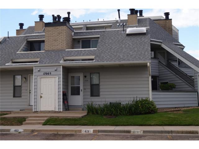 17003 E Tennessee Drive #104, Aurora, CO 80017 (MLS #5936726) :: 8z Real Estate