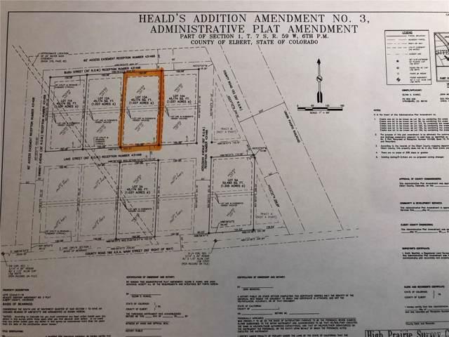 38423 Lake Street, Agate, CO 80101 (MLS #6605102) :: 8z Real Estate