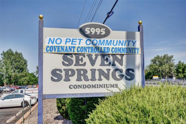 5995 W Hampden Avenue #11, Denver, CO 80227 (#6607380) :: Wisdom Real Estate