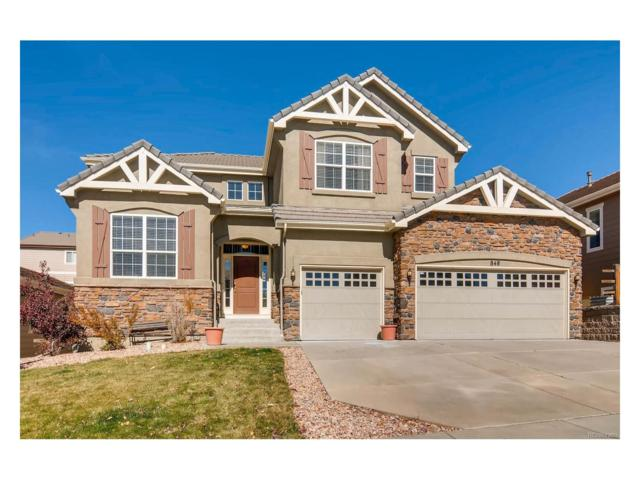 848 Altamont Ridge Drive, Colorado Springs, CO 80921 (#7923140) :: The Heyl Group at Keller Williams