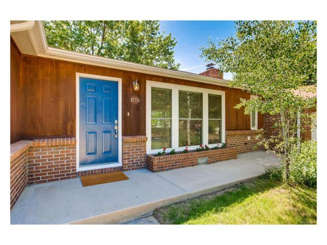 870 Miller Street, Lakewood, CO 80215 (MLS #7757579) :: 8z Real Estate