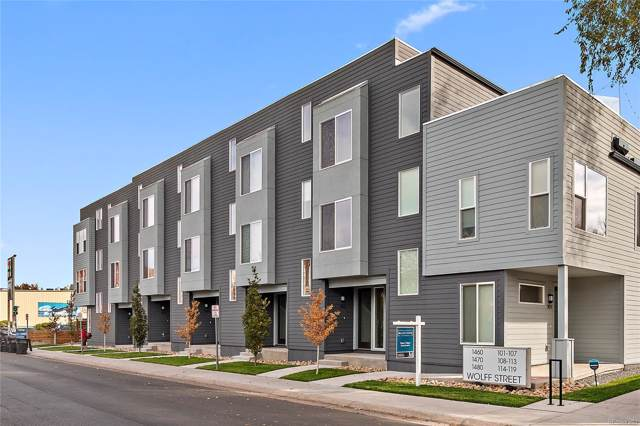 1480 Wolff Street #114, Denver, CO 80204 (#7807225) :: My Home Team