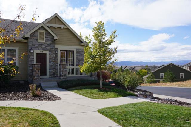 759 Rock Mesa Way, Castle Rock, CO 80108 (MLS #9522830) :: Kittle Real Estate