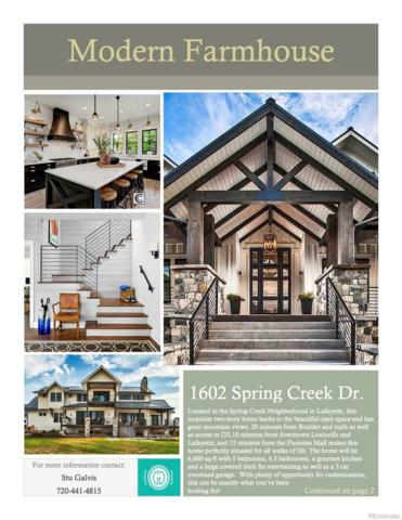 1602 Spring Creek Drive, Lafayette, CO 80026 (#9309008) :: The DeGrood Team