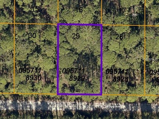 2760 Boyd (Lot 29) Avenue, North Port, FL 34286 (MLS #C7416107) :: Florida Real Estate Sellers at Keller Williams Realty