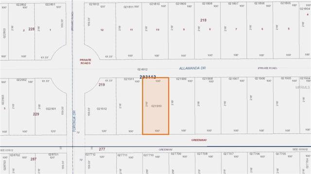 0 Allamanda Drive, Indian Lake Estates, FL 33855 (MLS #P4719117) :: Griffin Group