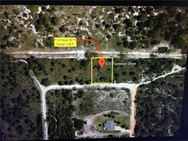 820 Florence Drive, Sebring, FL 33875 (MLS #T3156243) :: Griffin Group