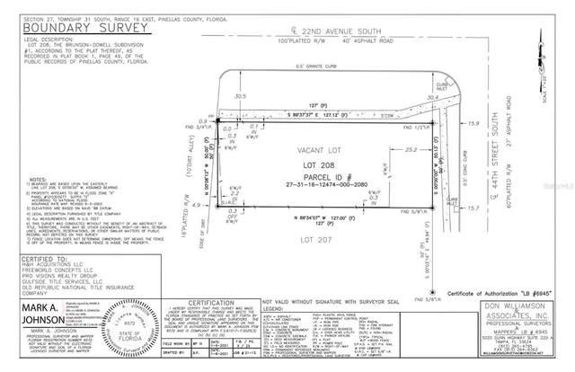 44TH Street S, Saint Petersburg, FL 33711 (MLS #T3334794) :: Global Properties Realty & Investments