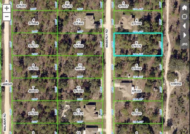 LOT 5 Maberly Road, Weeki Wachee, FL 34614 (MLS #W7818304) :: Cartwright Realty