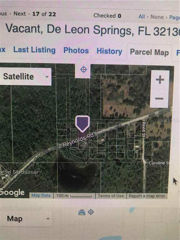 No Name Parcel 05163011380050, De Leon Springs, FL 32130 (MLS #V4910400) :: The Kardosh Team