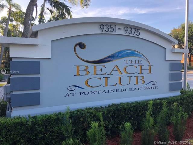 9375 Fontainebleau Blvd L404, Miami, FL 33172 (MLS #A10750771) :: Lucido Global