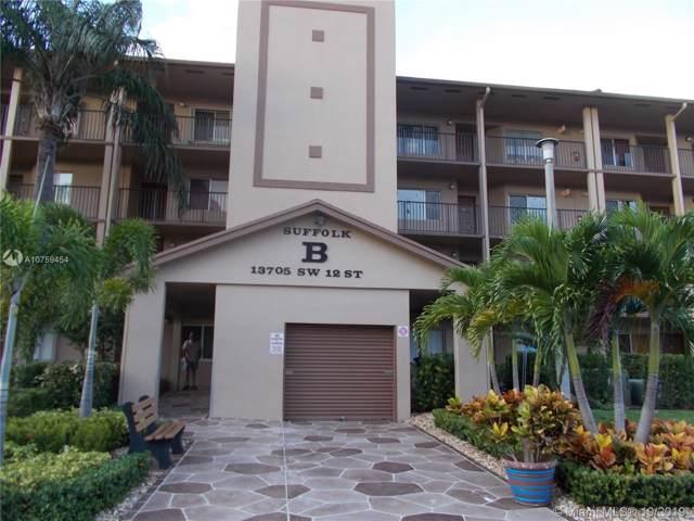 13705 SW 12th St 406B, Pembroke Pines, FL 33027 (MLS #A10759454) :: The Teri Arbogast Team at Keller Williams Partners SW