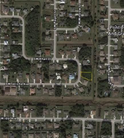 1189 SW Khan Dr, Port Saint Lucie, FL 34953 (MLS #A10774779) :: Green Realty Properties