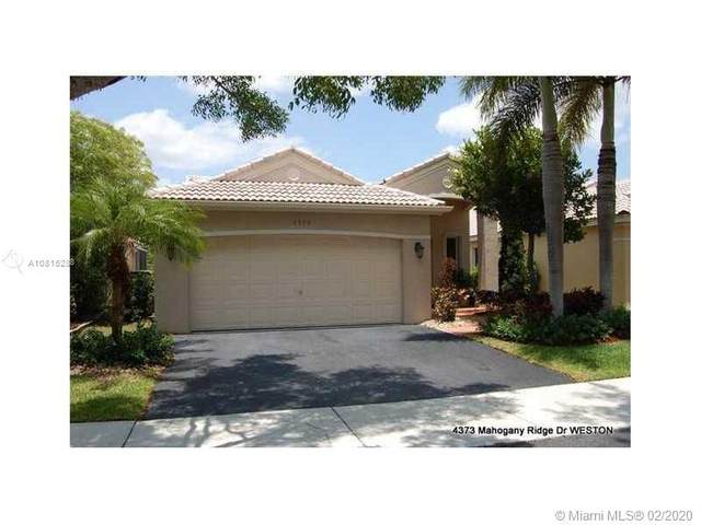 4373 Mahogany Ridge Dr, Weston, FL 33331 (MLS #A10815288) :: GK Realty Group LLC