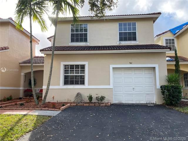 961 SW 178th Way, Pembroke Pines, FL 33029 (MLS #A10815335) :: GK Realty Group LLC