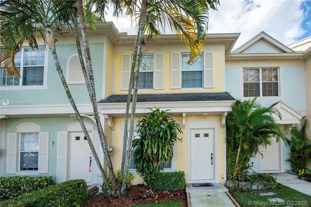 87 Simonton Cir #87, Weston, FL 33326 (MLS #A10818736) :: Green Realty Properties