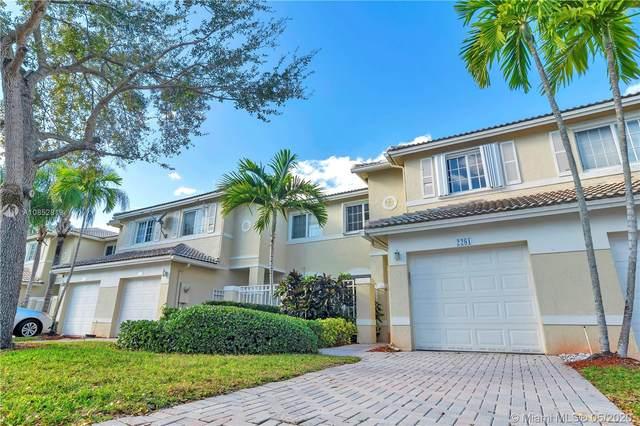 2281 NW 171st Ter, Pembroke Pines, FL 33028 (MLS #A10852819) :: Green Realty Properties